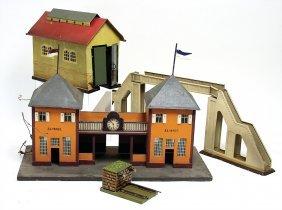 Konv., Eisenbahn, Spur 0 U. 1, Lokschuppen, Wohl Kibri,