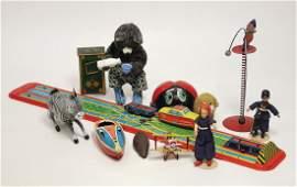 Konv. Blechspielzeug, Kerzenboot, kleine Maus, Schuco,