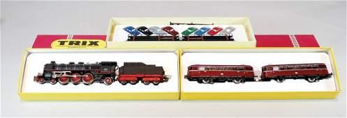 TRIX Express Spur H0 2 x Lok 1 x Schienenbus Nr