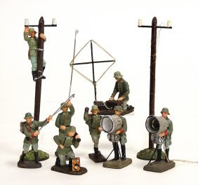 Elastolin U. Lineol, Masse, 7,5 Cm, 2. Weltkrieg,