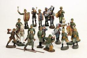 2. Weltkrieg, Meist Elastolin, 2 Reiter, Mann Am