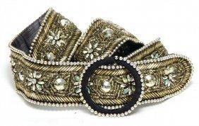 Damengürtel, Strass- Und Perlenverzierung, Gold-