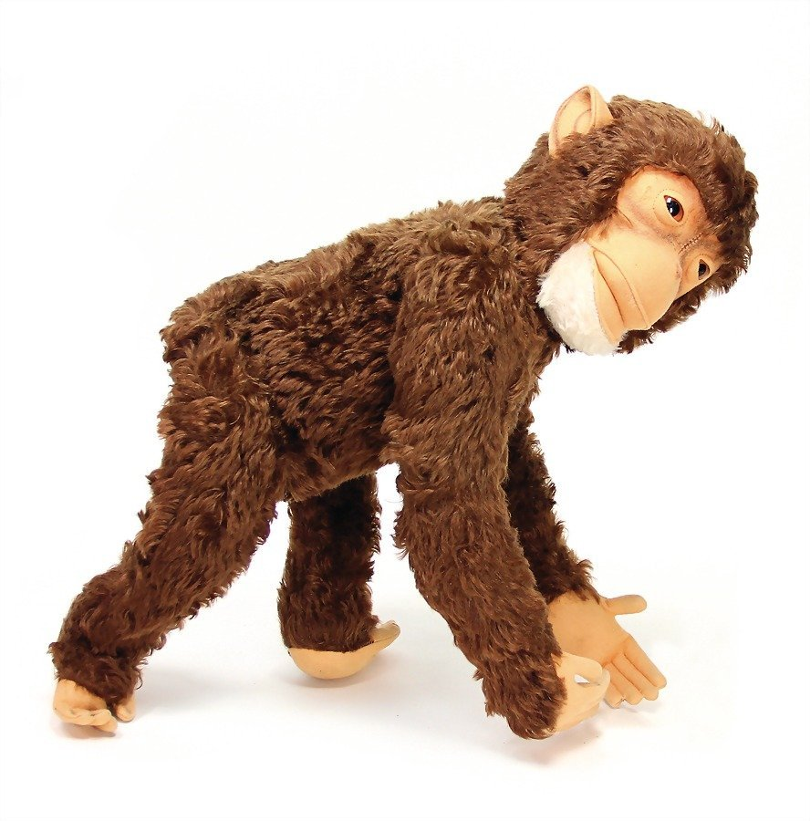 STEIFF monkey, Jocko, with button and breast sign, 60