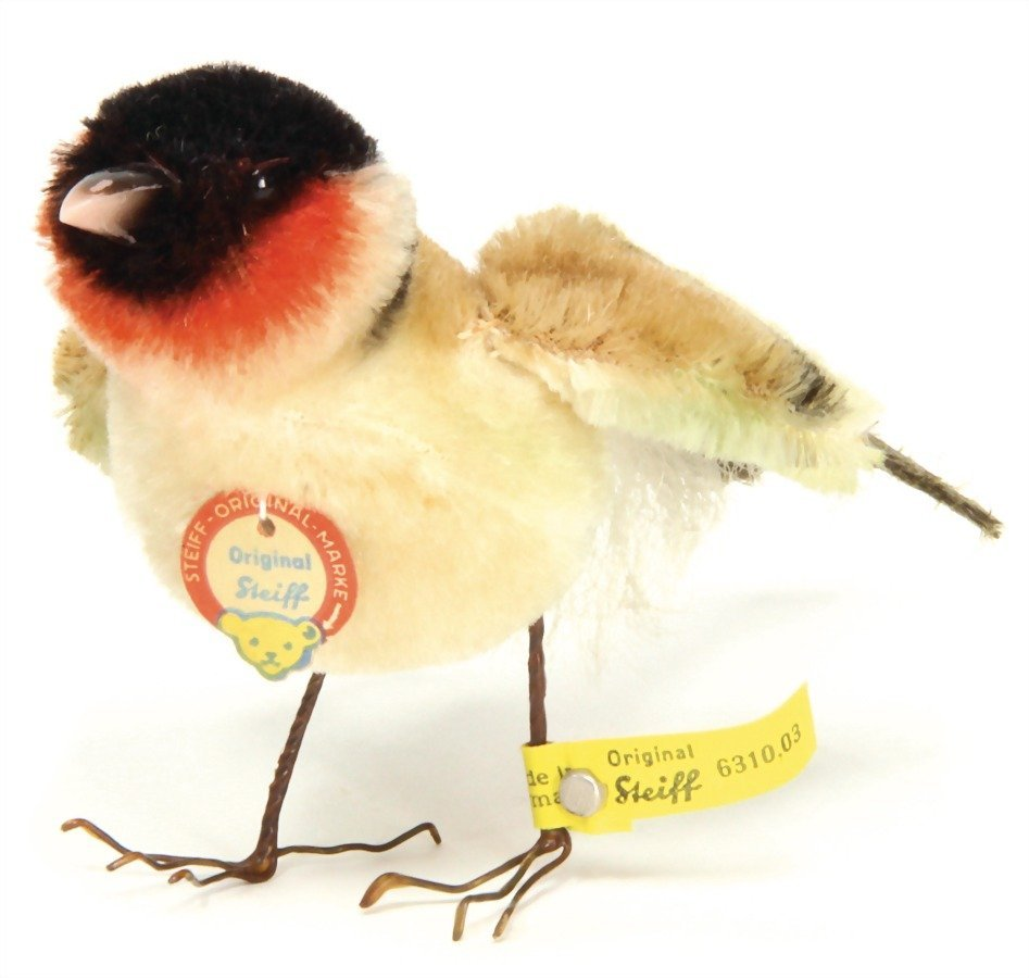 STEIFF bird, complete, No. 6310.03, wire feet, mohair,