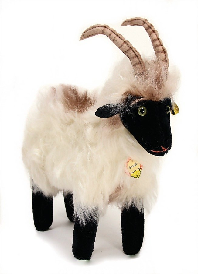 STEIFF Snucki, sheep, with button, chest label and