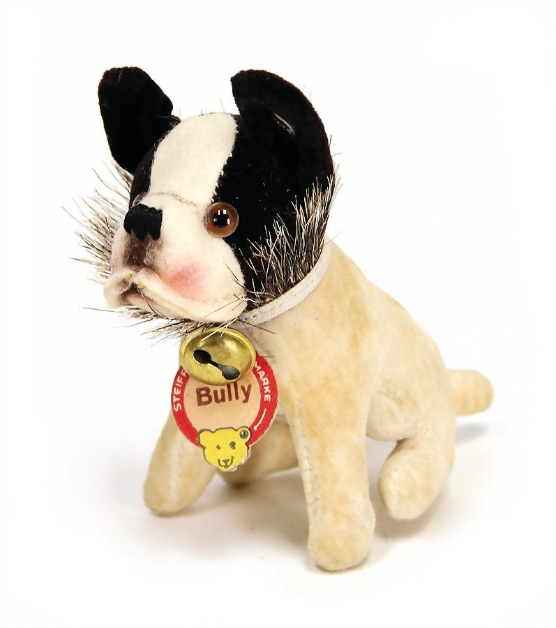 STEIFF Bully, with button and cloth tag label, long