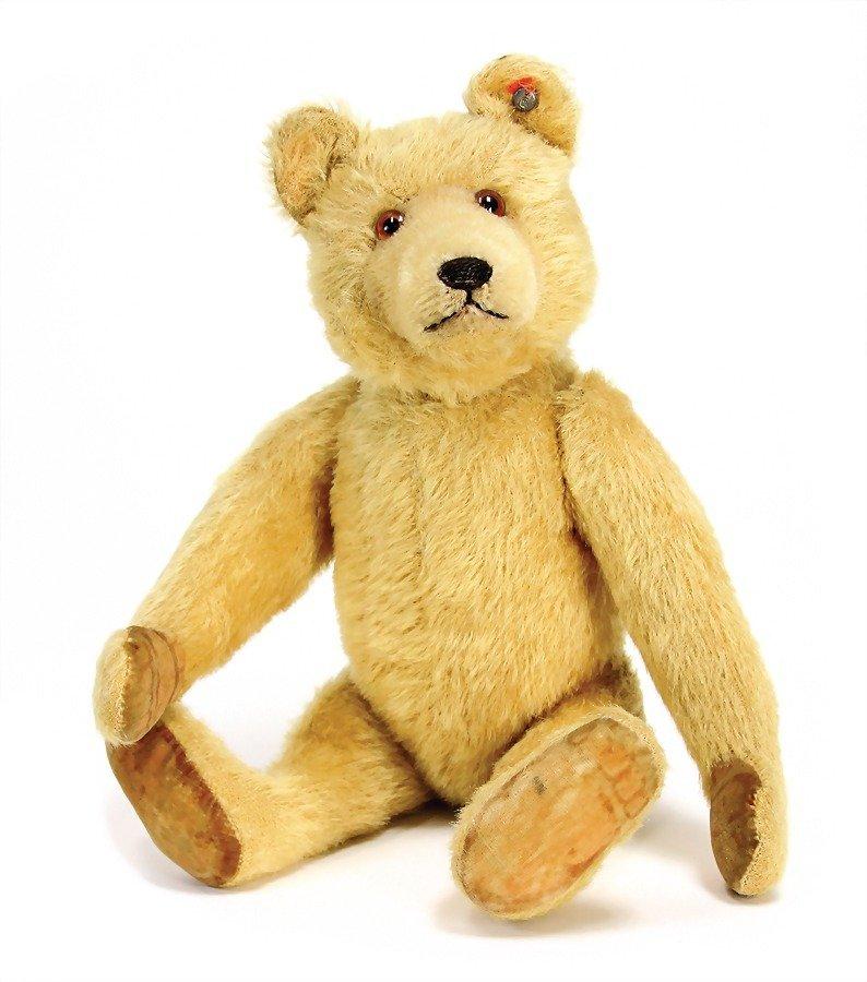 STEIFF Dicki-bear, mohair plush, blond, jointed,