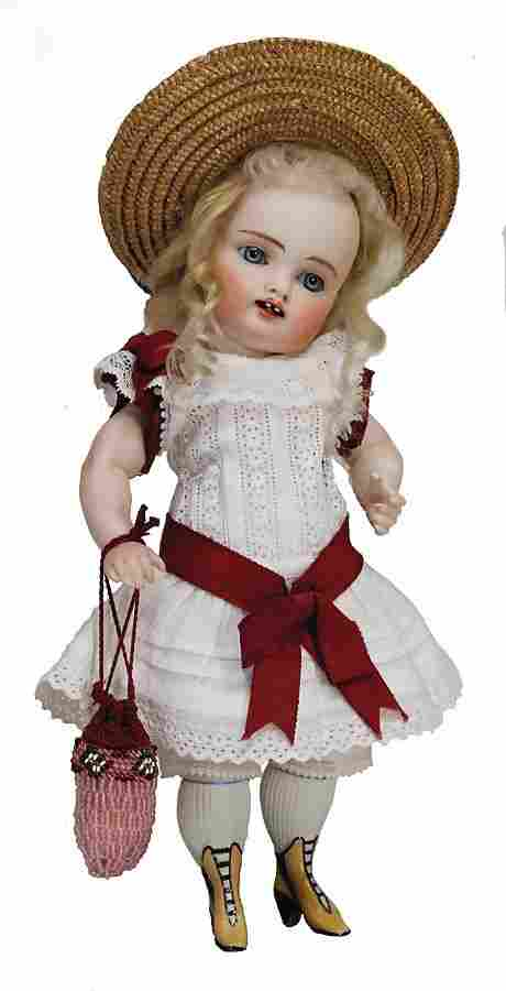 exceptional all-bisque doll, marked 14, 26 cm, socket