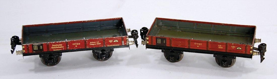 MÄRKLIN track 0, 2 low side cars, 1772, used