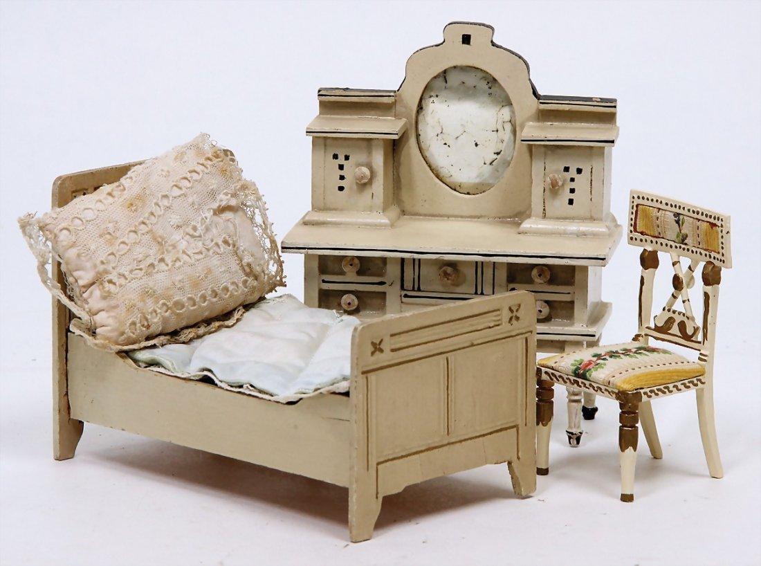 dollhouse bedroom furniture, bureau, width: 11.5 cm, 1
