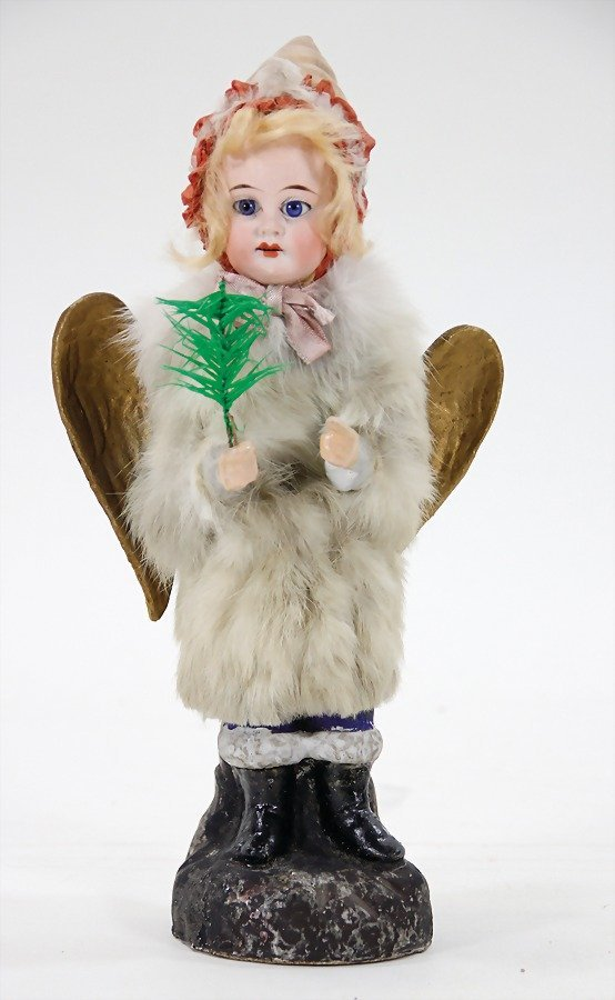 Christmas angel, Candy-container, papier mâ