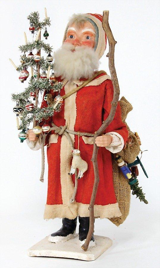 Santa Claus, head nodder, clock mechanism drive is