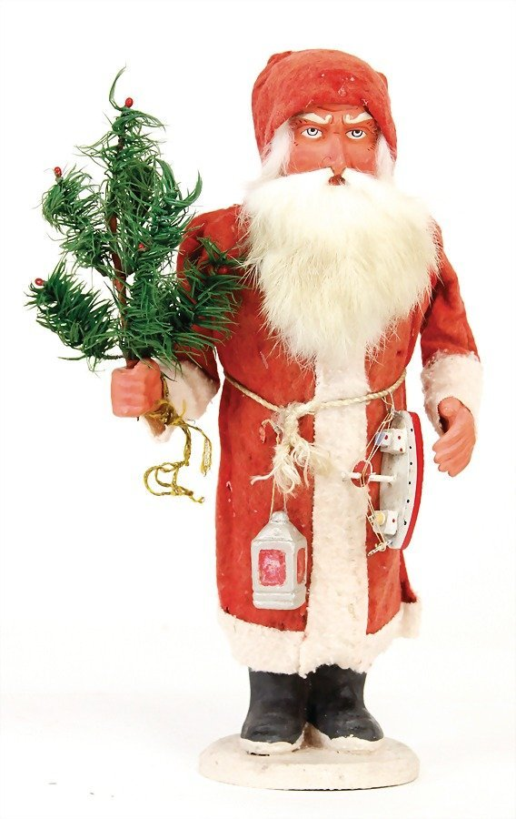 Santa Claus, Candy container, 30 cm, mass- ace, felt