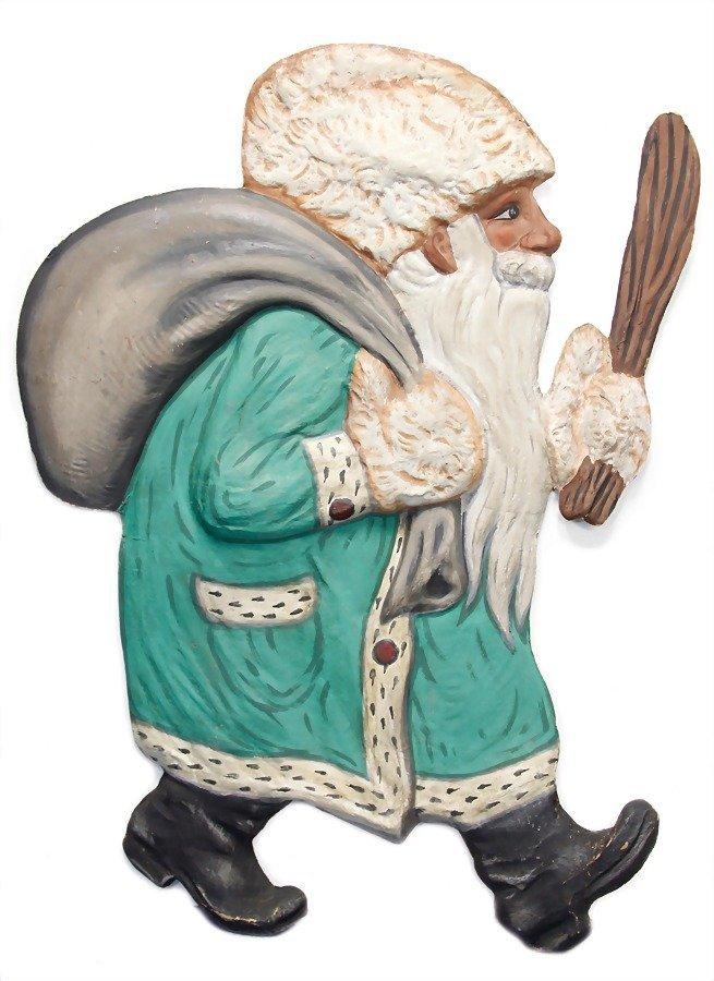 Santa Claus, cardboard, half plastic, colored frame, 96