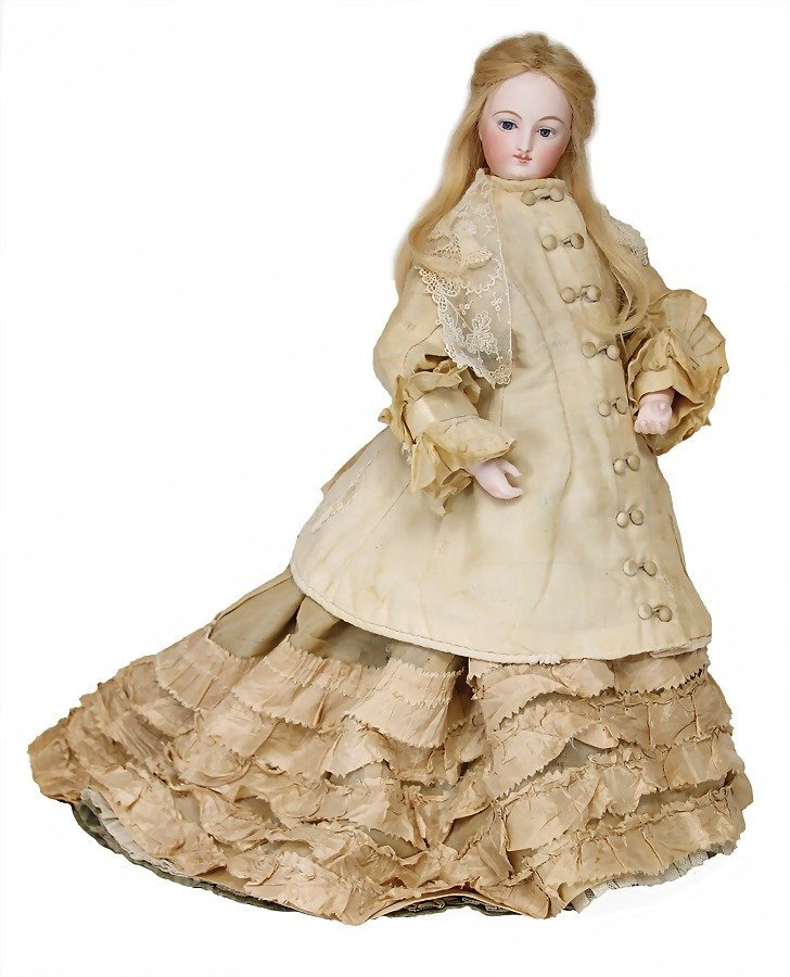 French Fashion Doll, bisque socket head on a bisque