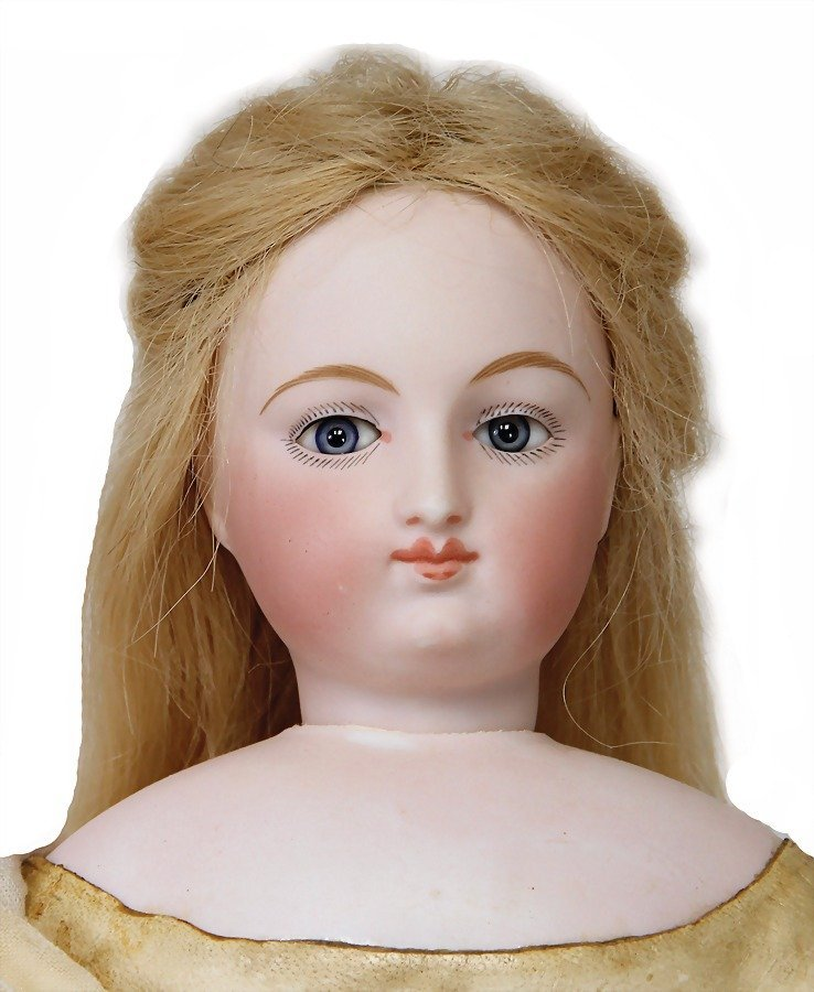 French Fashion Doll, bisque socket head on a bisque - 3