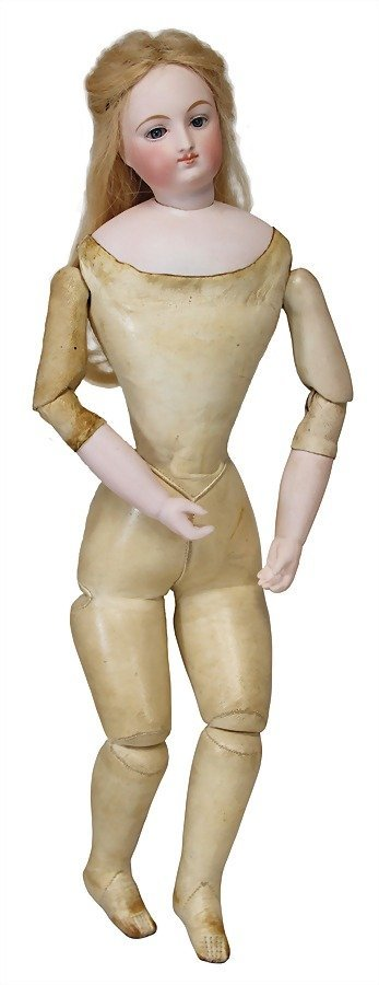 French Fashion Doll, bisque socket head on a bisque - 4
