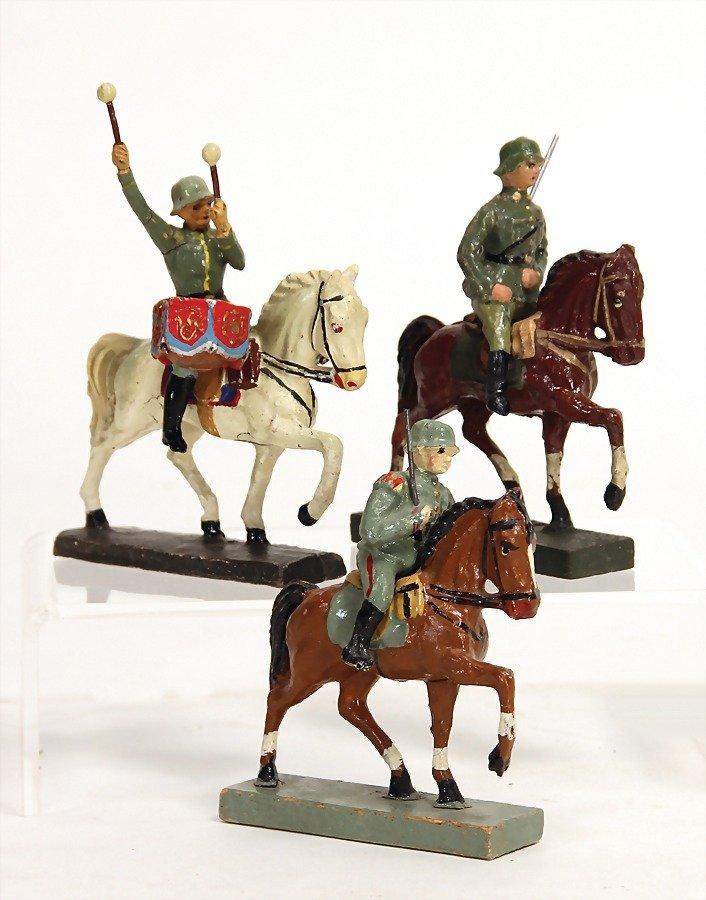 3 Teile Masse, 2. Weltkrieg, 7 cm u. 7,5 cm, Elastolin,