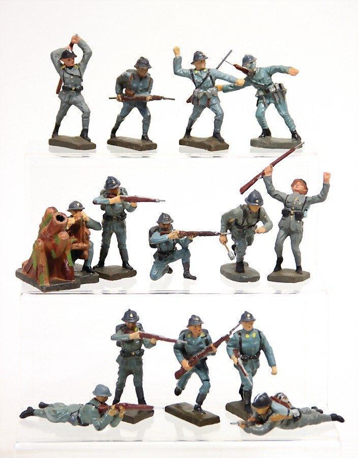 Elastolin u. Lineol, 2. Weltkrieg, Franzosen, Masse,