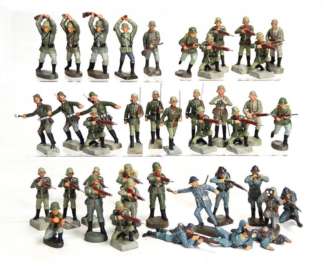 26 Teile Masse, 2. Weltkrieg, ungem., 7 cm, dazu 14