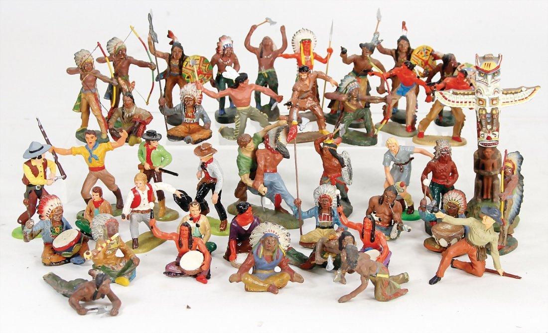 Elastolin, gr. Konv. Kunststoff u. Masse Indianer, 7,5