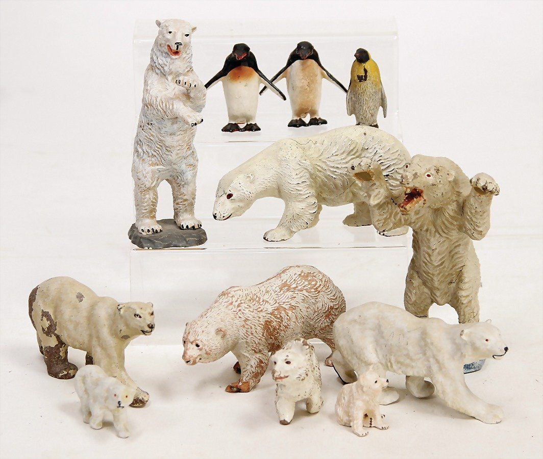 Eisbärengruppe, Masse, 8 Teile, untersch.