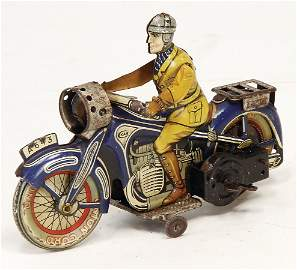 CKO Scheinwerfer, Motorrad, Blech lithogr., Glas am