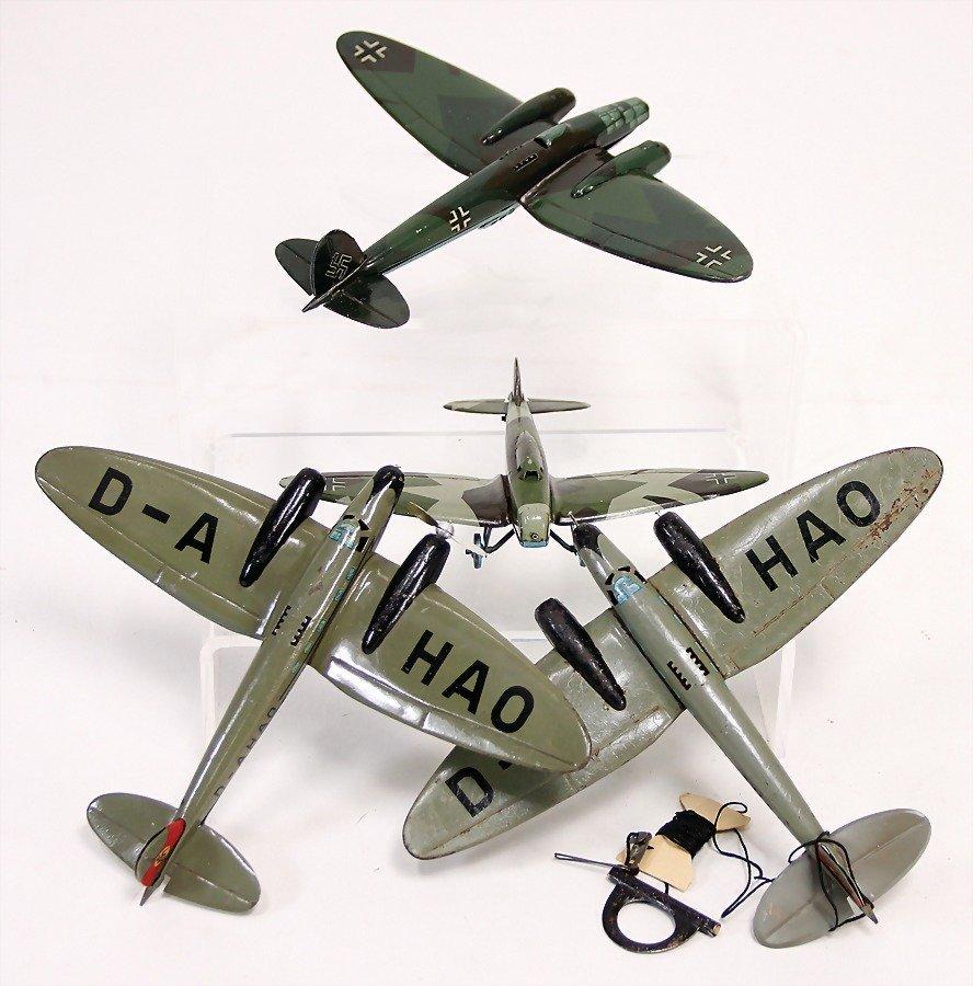 LEHMANN Flugzeuge, 4 Teile, 2 u. 1-motorig, bespielt