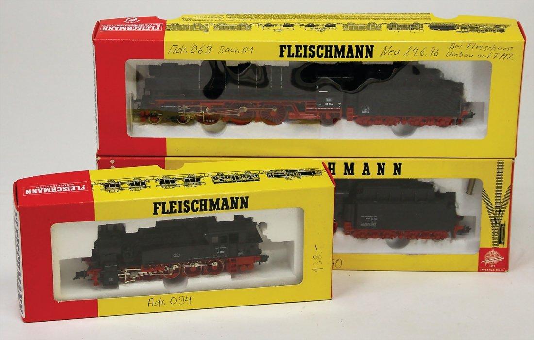 FLEISCHMANN H0, 3 Teile Dampflokomotiven, 4094, 4170,