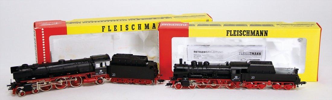 FLEISCHMANN H0, 2 Teile Dampflokomotiven, 4144 K, 4170,