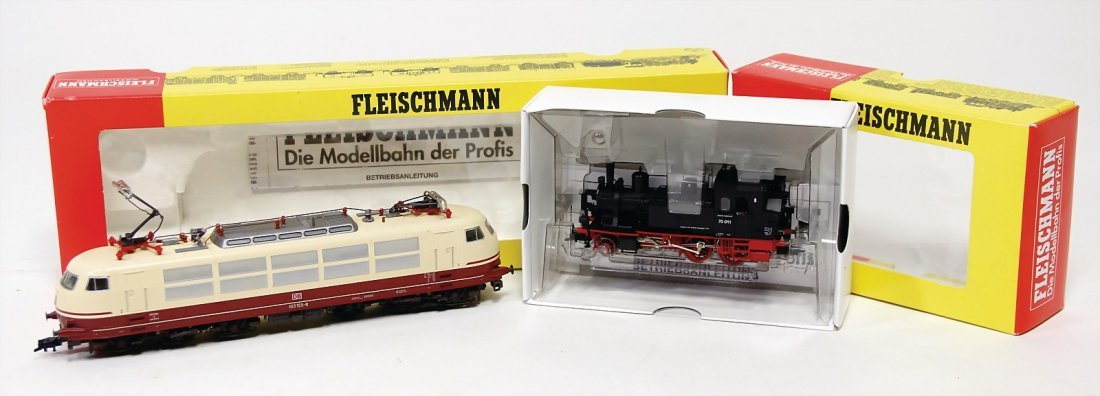 FLEISCHMANN H0, 2 Teile Lokomotiven, Tenderlok 4070 K,