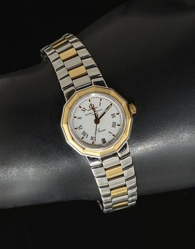 BAUME & MERCIER WATCH WITH DIAMOND HOUR MARKERS