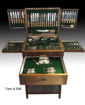 MONUMENTAL SET VINER AND HALL SILVERPLATED CUTLERY