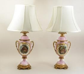 PAIR OF OLD PARIS TABLE LAMPS