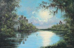 ROY MCLENDON FLORIDA HIGHWAYMEN NOCTURNAL PAINTING