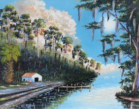 WILLIE REAGAN FLORIDA HIGHWAYMEN ST LUCIE PAINTING