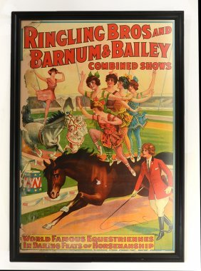 VINTAGE RINGLING BROTHERS EQUESTRIAN CIRCUS POSTER
