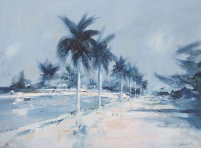 LARGE CHARLES GRUPPE TROPICAL PAINTING