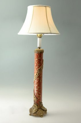 VINTAGE TALL ORNATE TABLE LAMP
