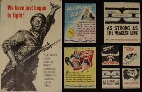 COLLECTION OF 8 WWII PROPAGANDA/RECRUITMENT POSTER