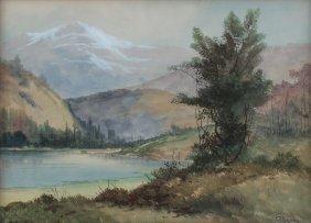 EDWARD R. SITZMAN WESTERN RIVER LANDSCAPE