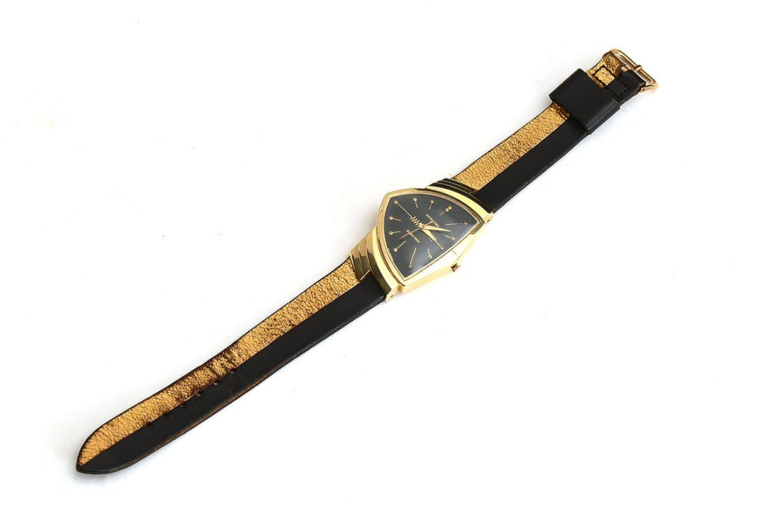 1957 HAMILTON VENTURA 14K GOLD WATCH