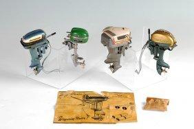 4 VINTAGE MODEL OUTBOARD BOAT ENGINES
