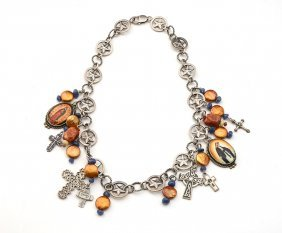 NECKLACE WITH RELIGIOUS CHARMS