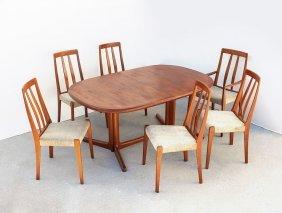 EDWARD VALENTINSEN DANISH TEAK DINING TABLE