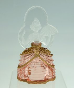MORLEE PINK BALL GOWN FIGURAL PERFUME BOTTLE