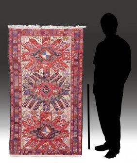 "PERSIAN SHAH STEVAN SOUMAK HW WOOL RUG,3'8"" X 6'6"""