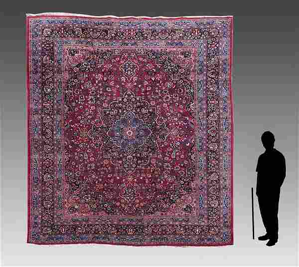 """PERSIAN HAND KNOTTED WOOL RUG, 10' X 12'9"""""""