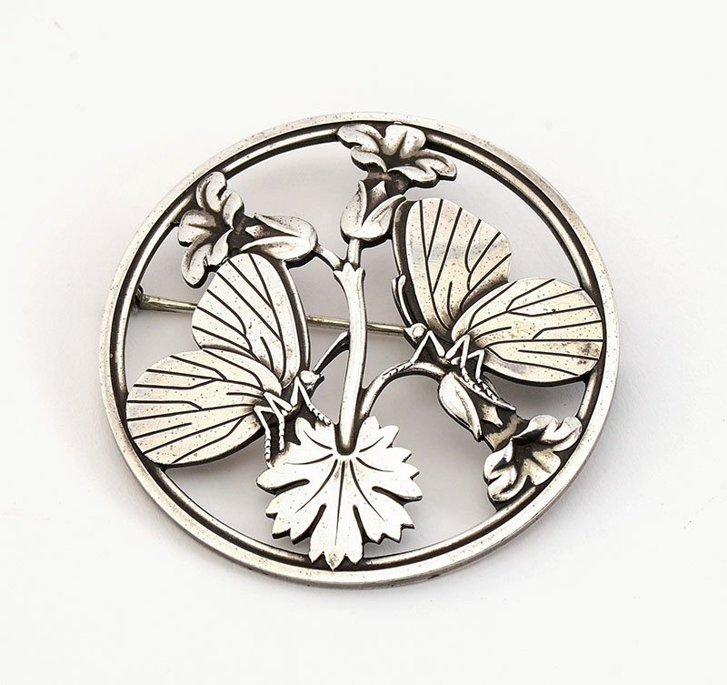 CLASSIC STERLING GEORG JENSEN BUTTERFLY BROOCH