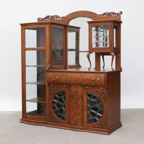 OAK SIDE BY SIDE BUFFET DISPLAY CABINET